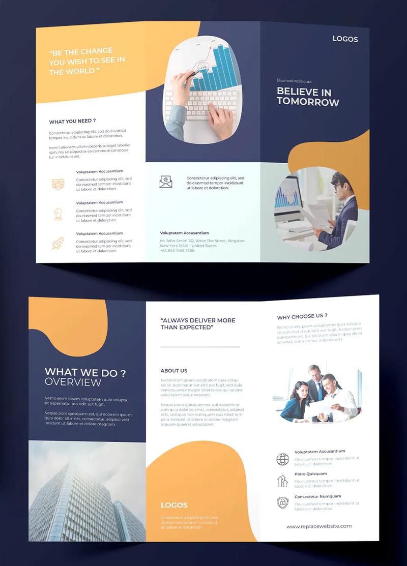 Professional Tri-Fold Business Brochure Design