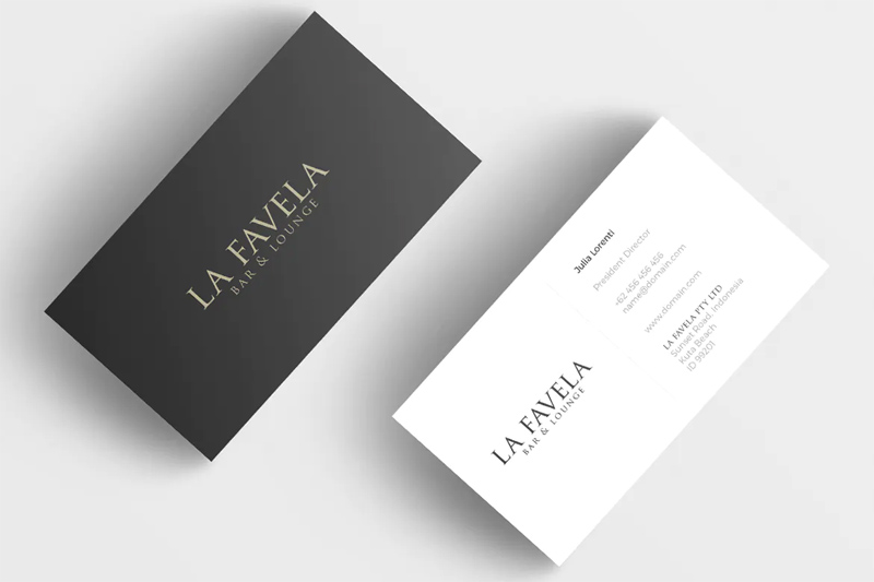 Restaurant Minimal Business Card Design