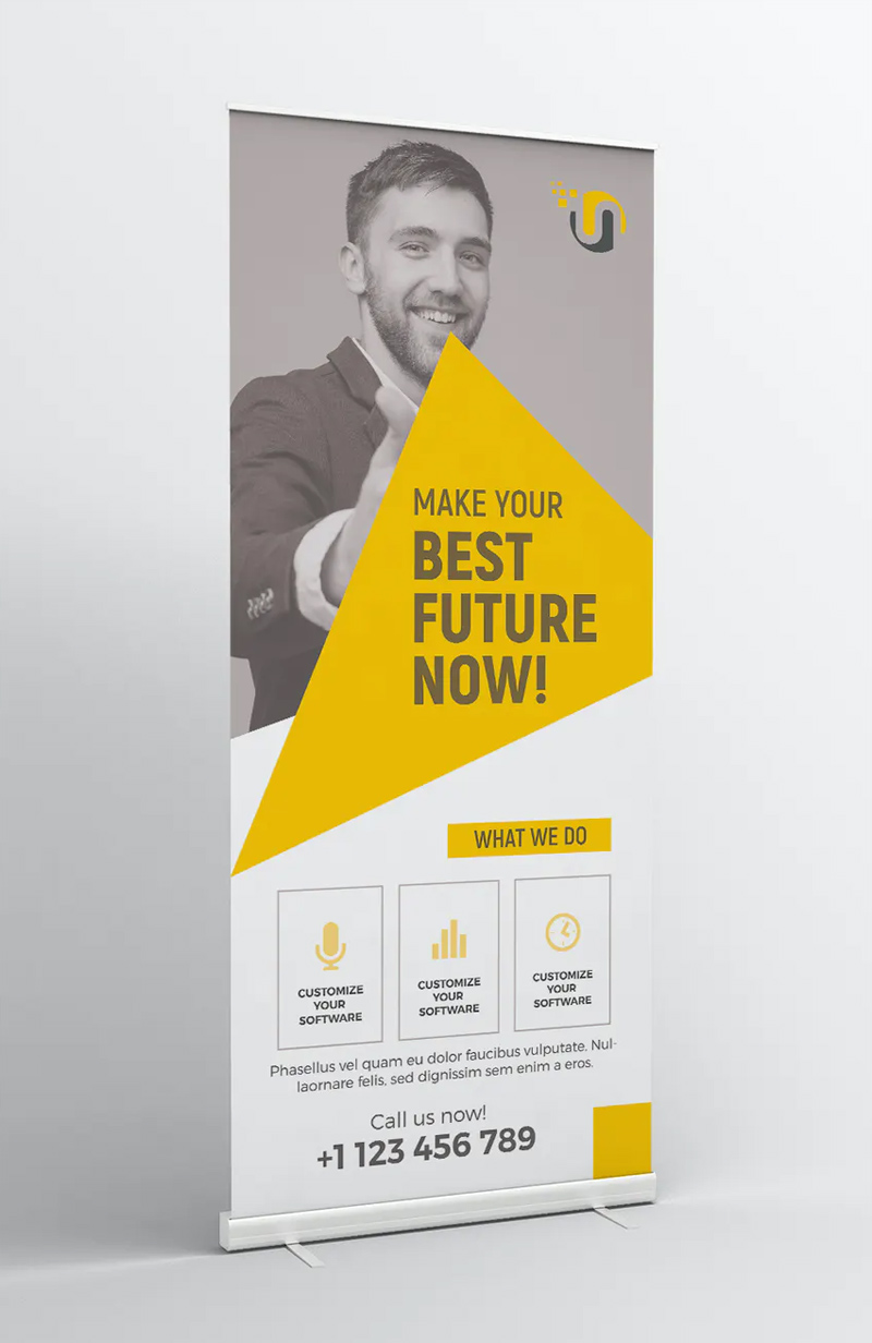 Simple Business Roll-up Banner