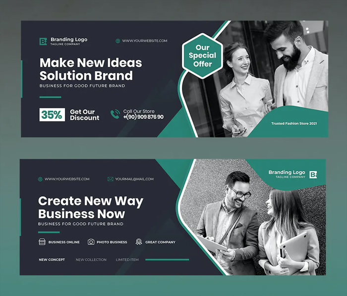 Template Business Facebook Covers