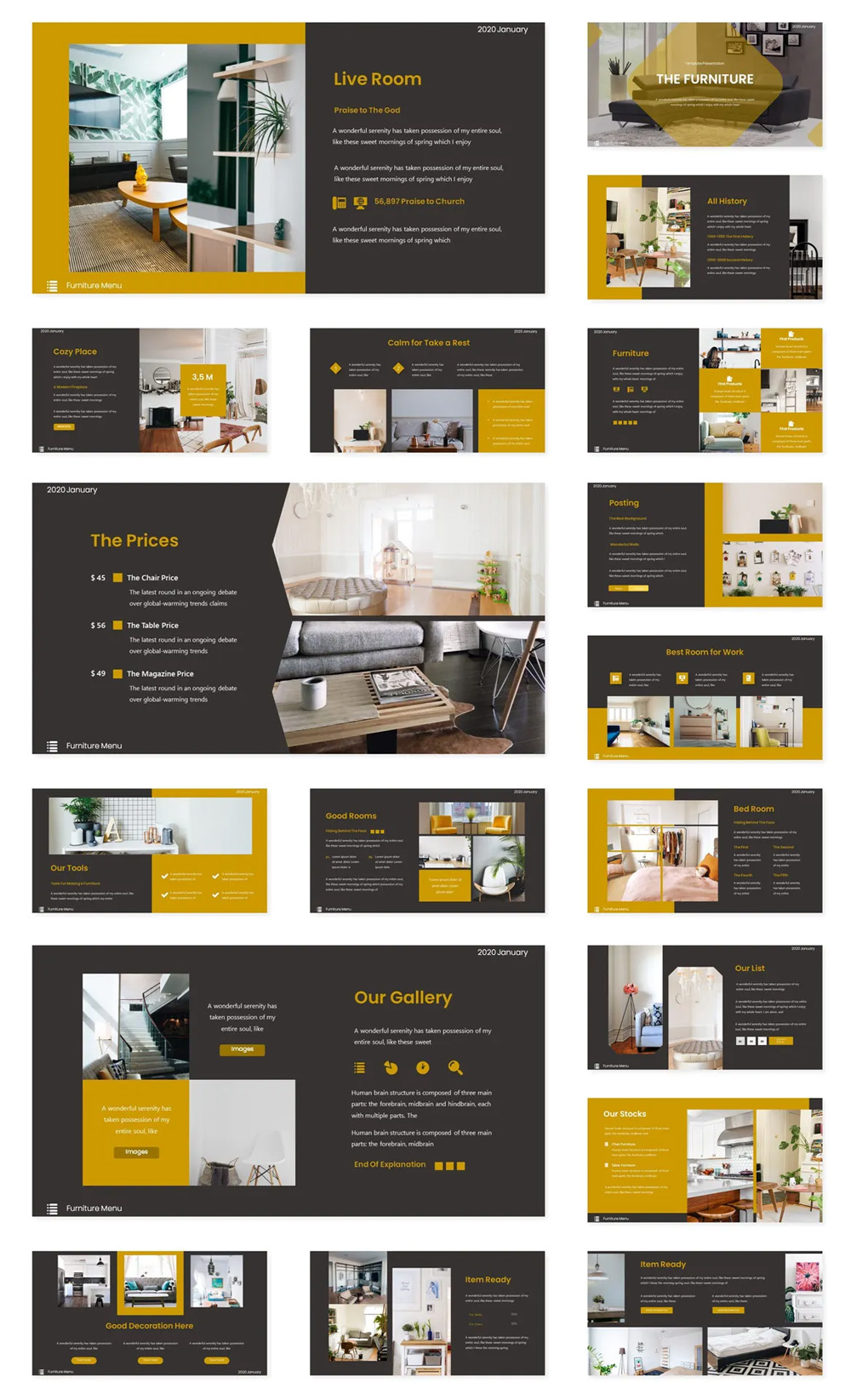 The Furniture Powerpoint Template