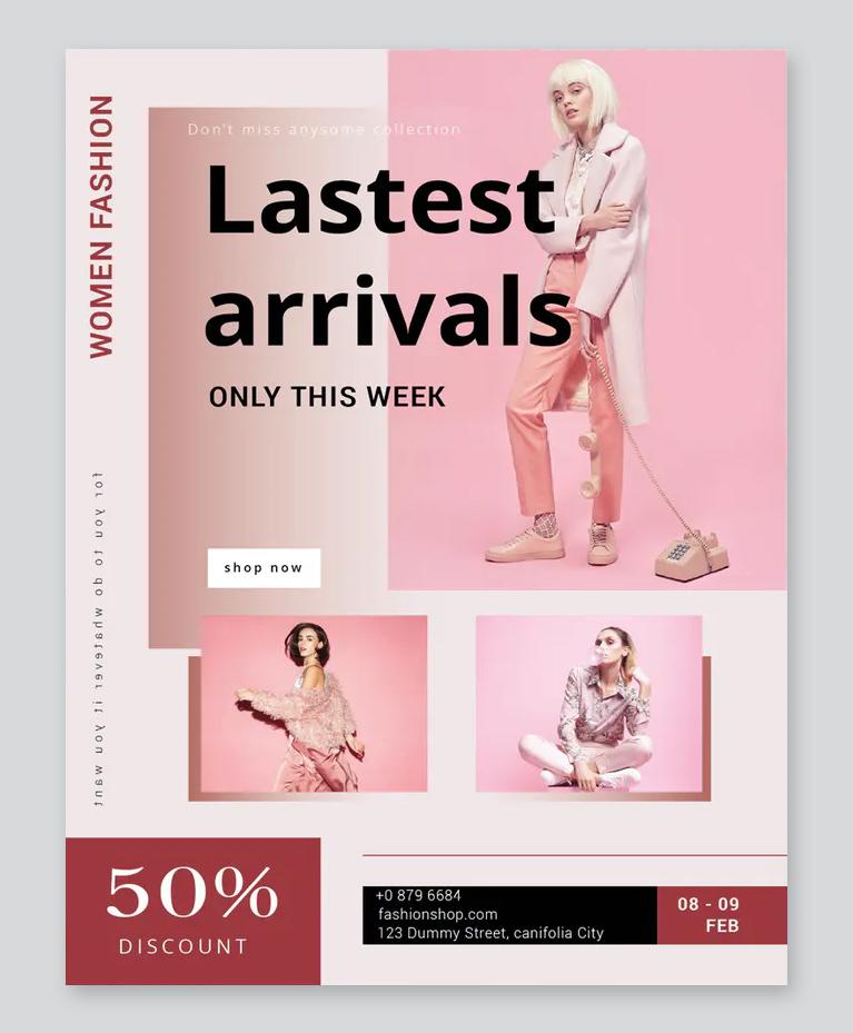 Women Fashion Flyer Design