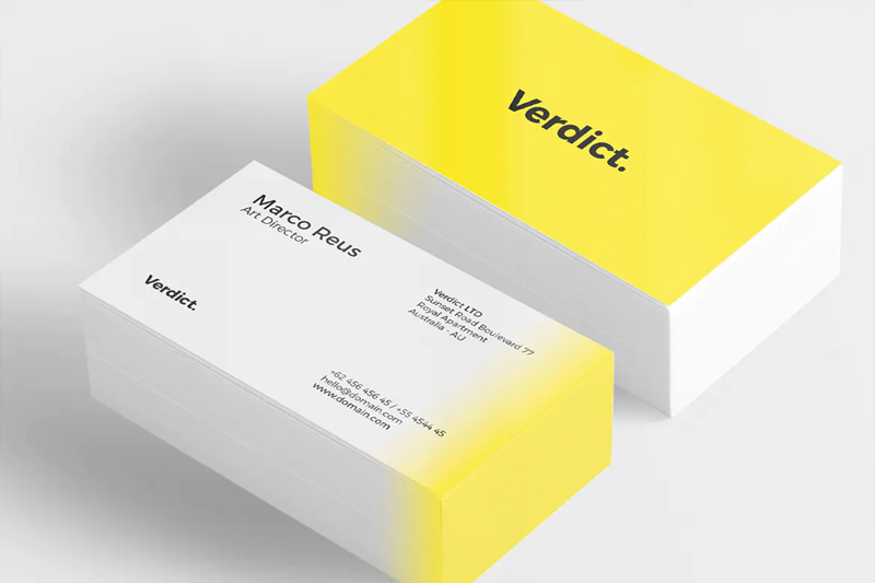 Yellow Minimal Business Card PSD