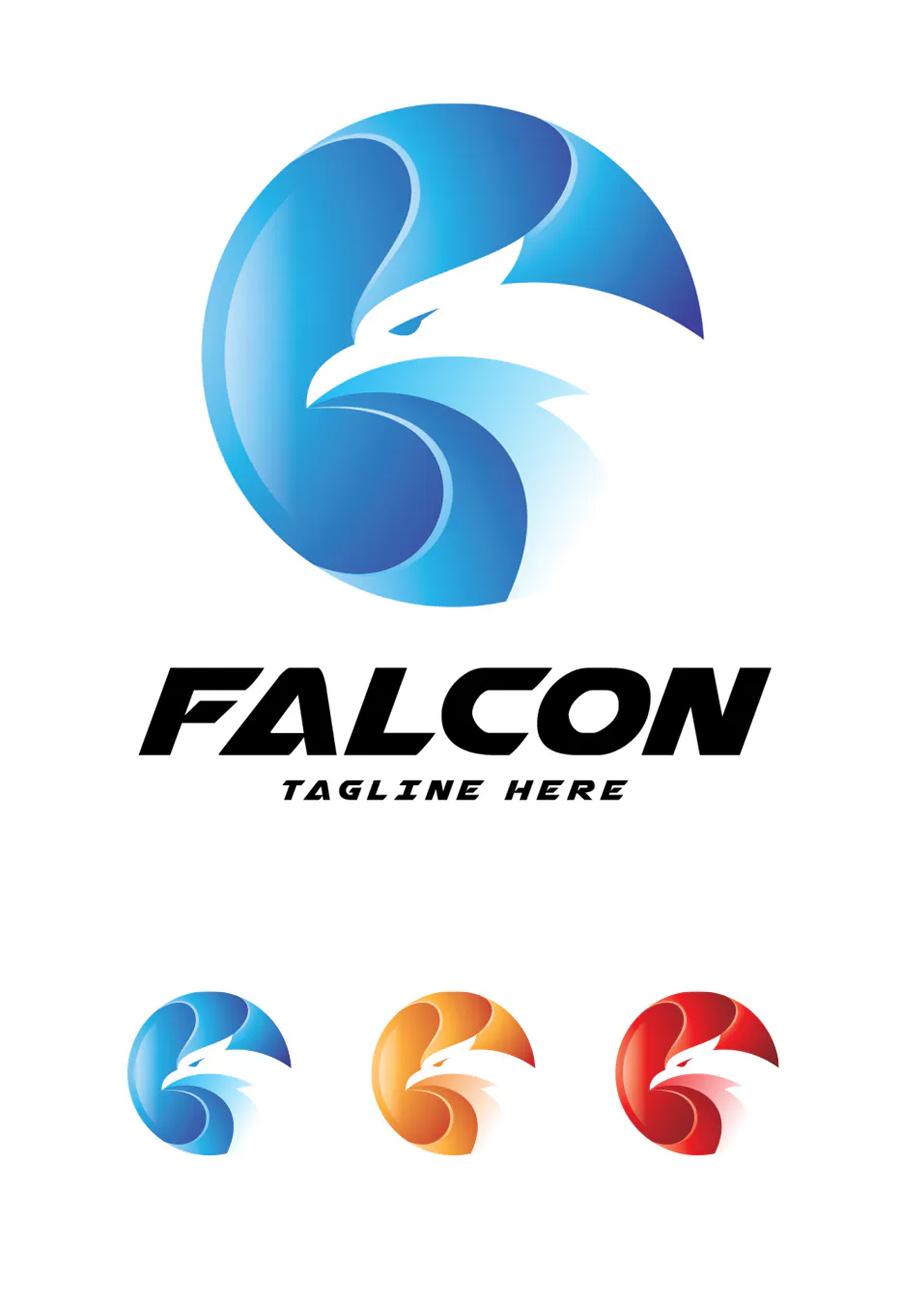 Abstract Falcon Logo Template