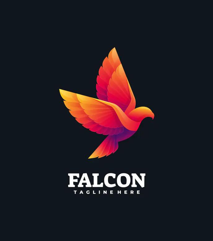 Colorful Falcon Logo Template