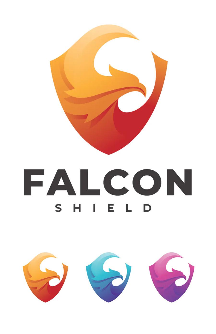 Falcon Shield Logo Template