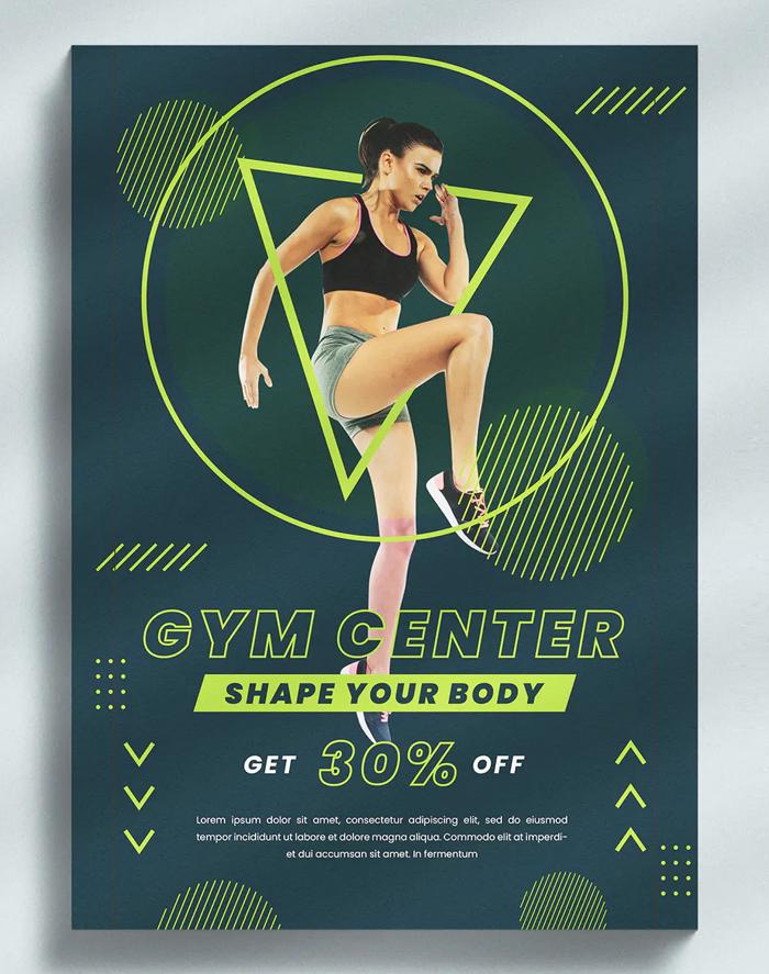 Gym Center Flyer Template