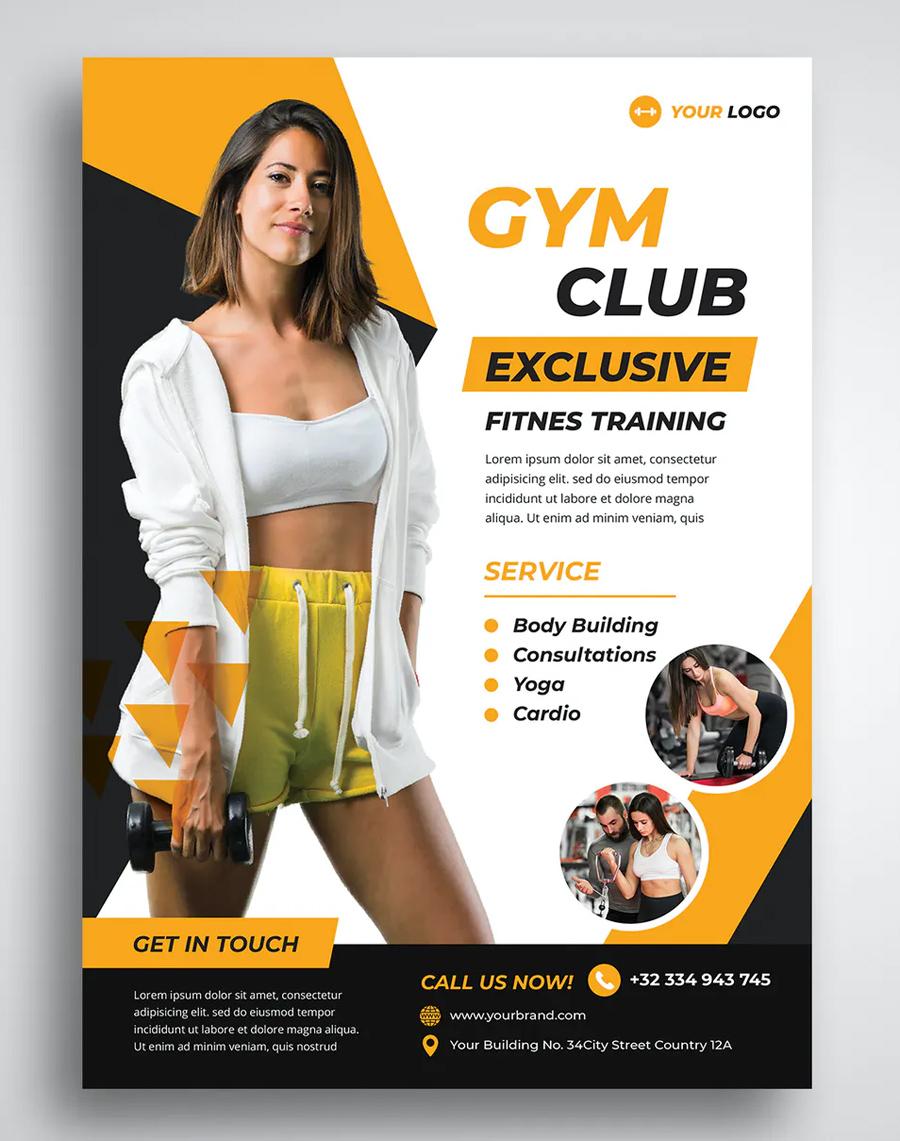 Gym Fitness Flyer Design