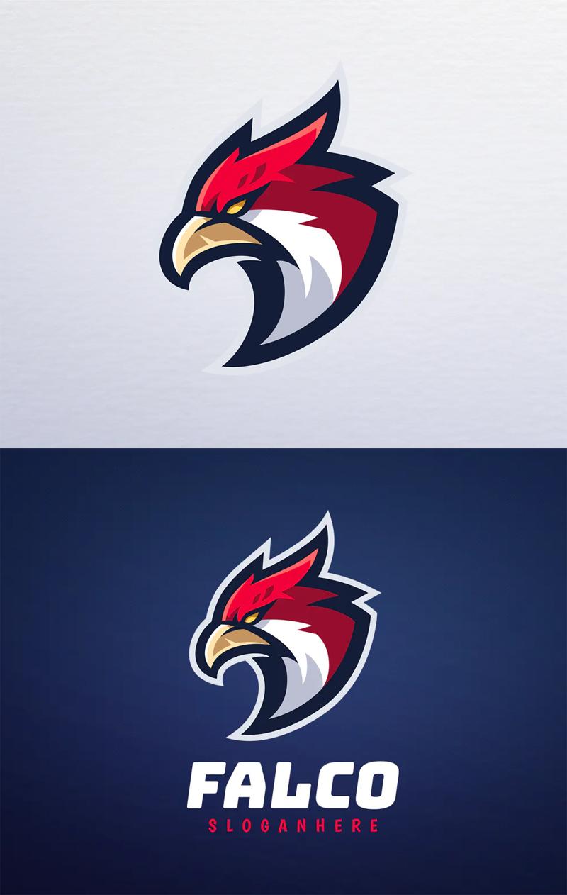 Head Falcon Logo Design