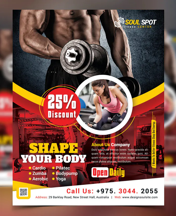 Health & Fitness Flyer Template