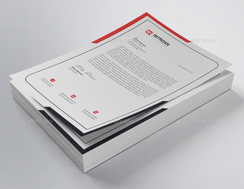 MS Word Letterhead Design
