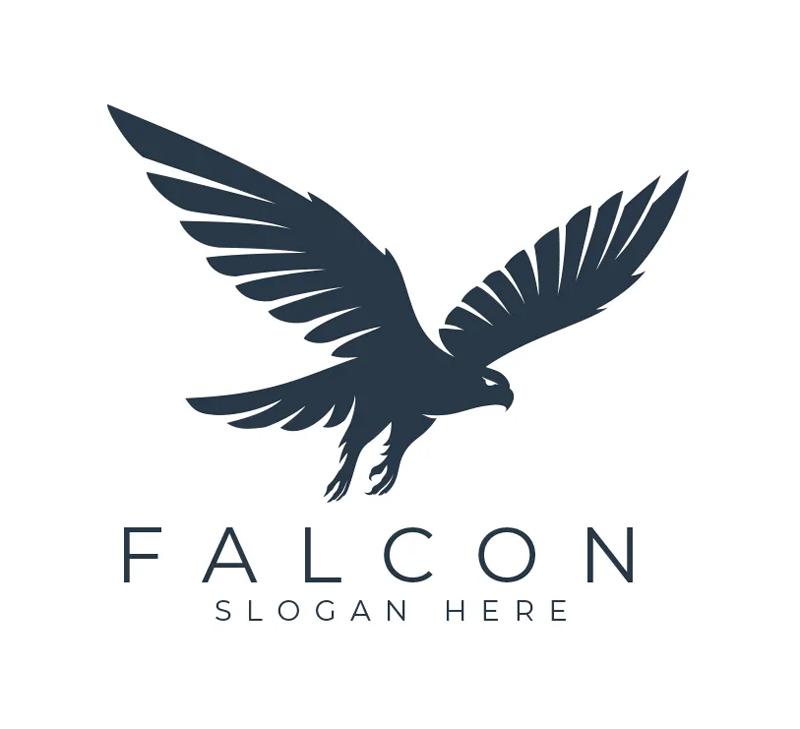 Simple Fly Falcon Logo Design