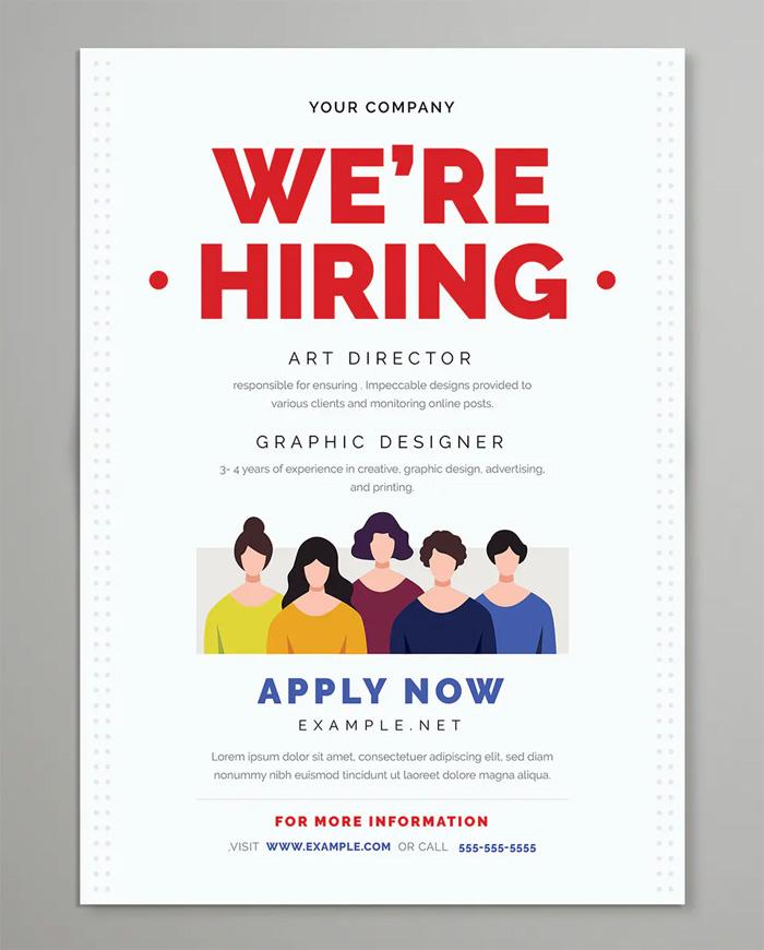 We Are Hiring Flyer Design